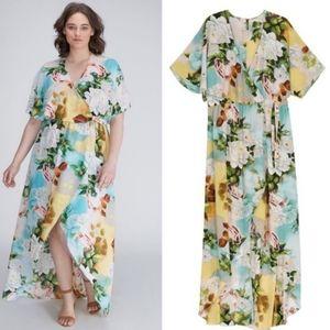 Melissa McCarthy Seven7 Floral Surplice Dress, 1X